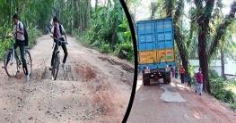 লক্ষ্মীপুর-পানপাড়া-রামগঞ্জ সড়ক নয় যেন মরণ ফাঁদ