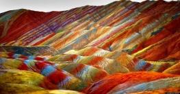 প্রকৃতির অপার বিস্ময় চীনের রংধনু পর্বতমালা