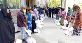 অসহায়দের পাশে দাঁড়িয়েছে কমলনগর থানা পুলিশ